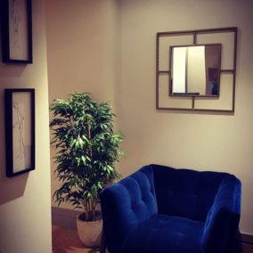 Diseño Interior sofá azul